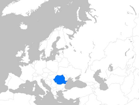 Romania Central – Map: Romania in Europe and the World