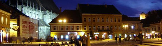 Pictures: Brasov City - Municipality of Brasov County - Kronstadt at night